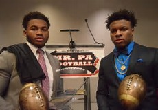 2016 Class 4A-6A Mr. PA Football D'Andre Swift left, 2016 Class 1A-3A Mr. PA Football Lamont Wade right (Photo courtesy of Brian Linder for Pennlive)